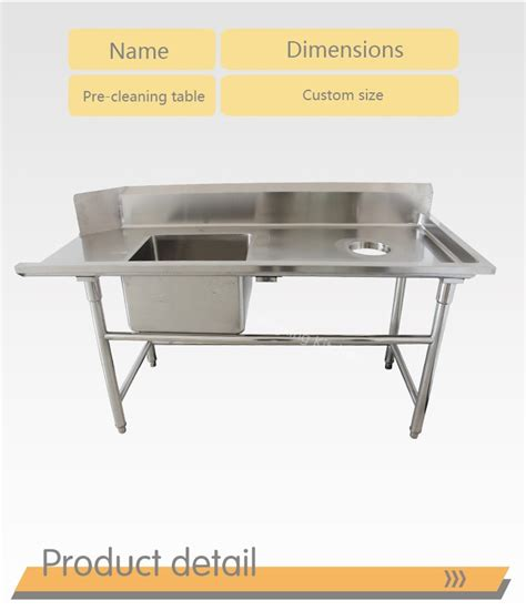 Restaurant Kitchen Washing Sink Work Bench Sink Work Table