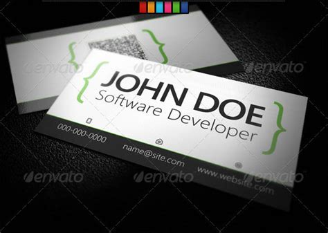 Software Developer Business Card Template 36 developer business card templates psd designs