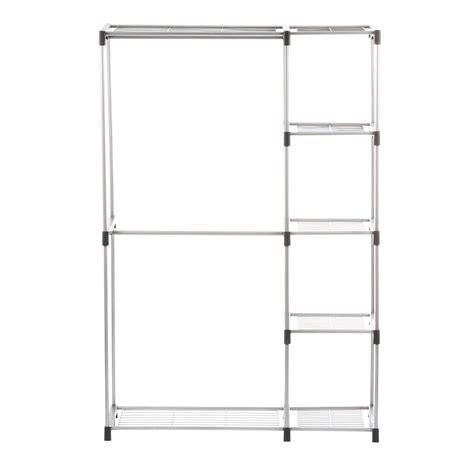 whitmor closet shelves whitmor supreme garment closet collection 45 37 in x 68