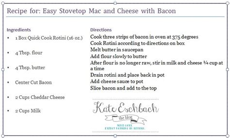 recipe templates for mac easy stovetop mac and cheese with bacon 15minutesuppers