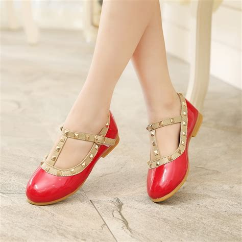 summer fashion princess wedges shoes korean rivets pu leather child shoes