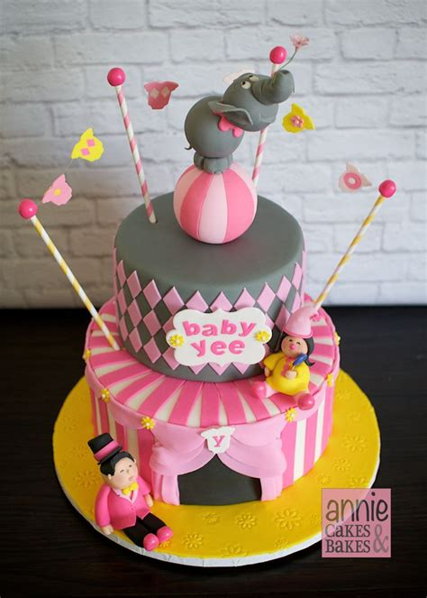 Circus Themed Baby Shower Cakes by Circus Theme Baby Shower Cake 2 Circus Cakes