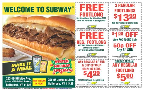 subway restaurant coupons printable sign up to get gt subway coupons ongoing