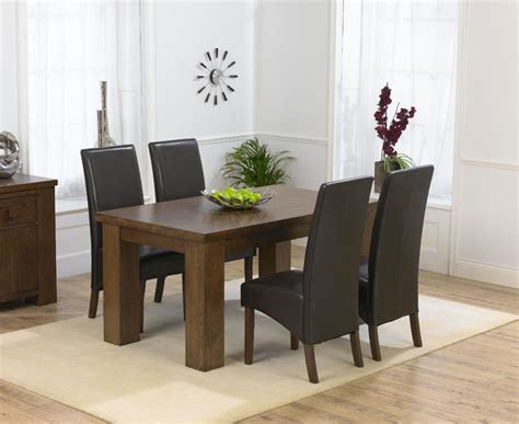 palermo oak dining table 150cm 4 marcello brown