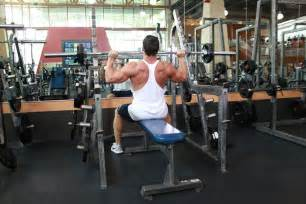 difference between barbell and dumbbell bench press seated barbell press exercise guide and
