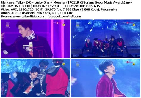 download perf exo lucky one monster mbc music core download perf exo lucky one monster daesang winner