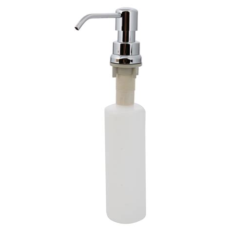 soap dispenser chrome plastic refillable bottle for sink