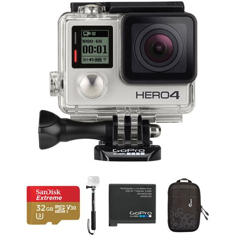 format video gopro hero 4 gopro hero4 silver beginners kit b h photo video