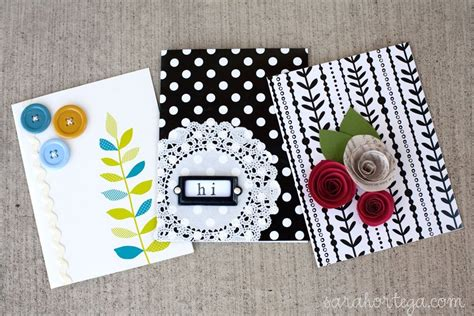 How To Make Easy Handmade Cards - handmade card ideas that is creative and inexpensive is