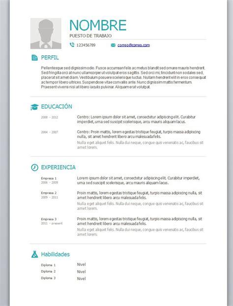 Modelo De Curriculum Vitae Para Completar Con Foto Modelos De Curriculum Vitae En Word Para Completar