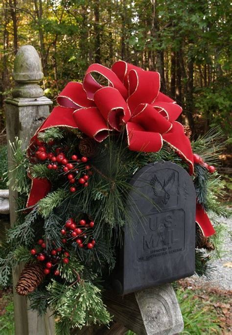 25 unique christmas mailbox decorations ideas on