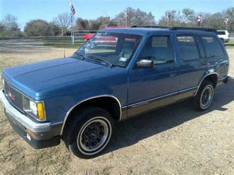 automobile air conditioning service 1992 gmc jimmy electronic valve timing find used 1992 gmc jimmy sle sport utility 4 door 4 3l in west texas united states