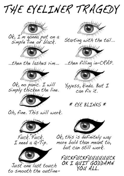 Eyeliner Meme - the eyeliner tragedy weknowmemes
