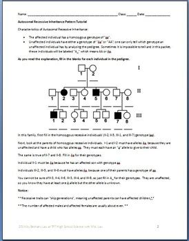 tutorial questions on genetics pedigree genetics advanced pedigree tutorial and question