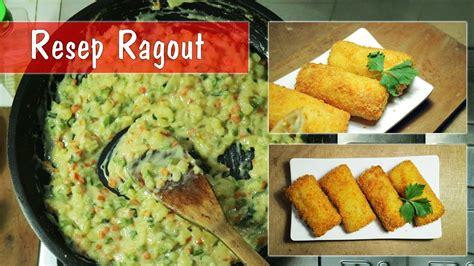 resep ragout  membuat ragout isian risoles