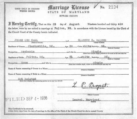 Maryland Marriage Records Archives Girlbackup