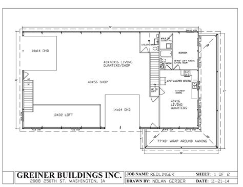 shop with living quarters floor plans ahscgs