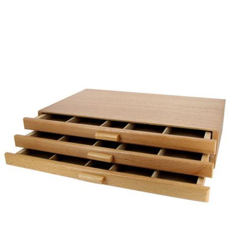 lade deco boite de rangement pour pastel 3 tiroirs divers chez