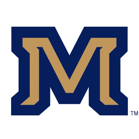 logo montana state university bobcats gold m blue outline