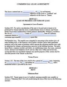 Standard Commercial Lease Agreement Template Free California Commercial Lease Agreement Pdf Word Doc