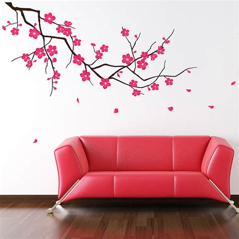 wall sticker branch with blossom wall stickers by parkins interiors notonthehighstreet