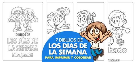 los d 237 as de la semana a trav 233 s de los cuentos imagenes para colorear sobre la semana de la educacion