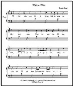 Pan christmas sheet music from france in three arrangements for piano