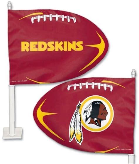 redskins colors washington redskins nfl team colors football shaped car flag
