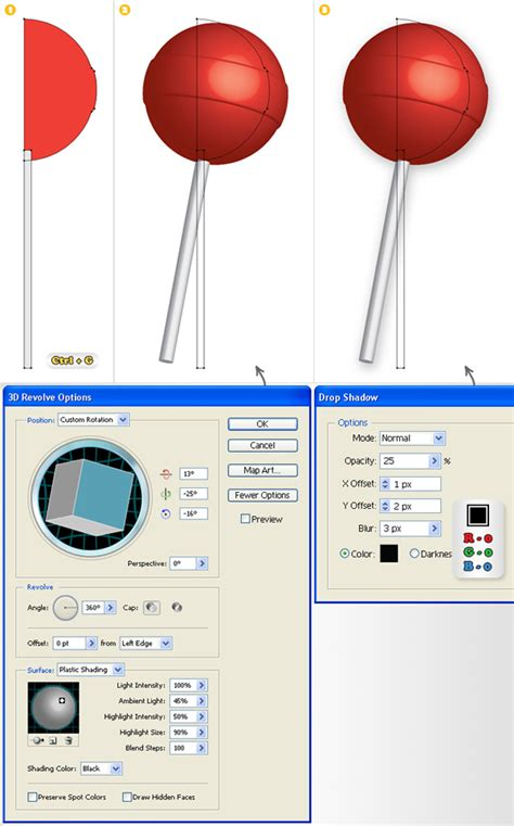 vector lollipop tutorial quick tip how to create a simple 3d lollipop icon