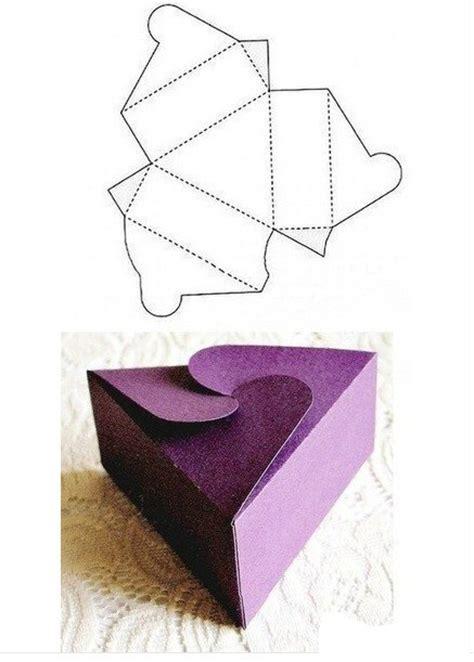 moldes de cajas de regalo triangulares para imprimir patrones de cajas para imprimir y armar manualidades