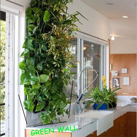 Green Wall Planters by Hanging Green Wall Pots With 16 Planting Bags Planters For