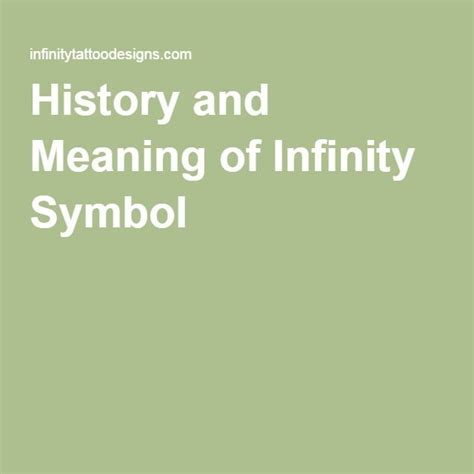the history of infinity 1000 ideas about infinity symbol tattoos on