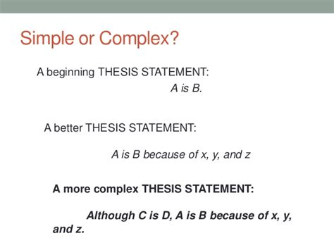 thesis statement structure basic essay structure