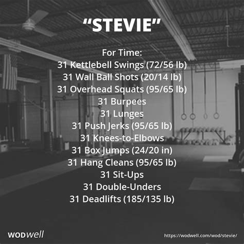 crossfit swing quot stevie quot crossfit south tribute wod 31 kb swings 31 wall