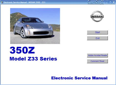 car repair manual download 2003 nissan 350z on board diagnostic system service manual 2003 nissan 350z body repair manual buy used 2003 nissan 350z touring manual