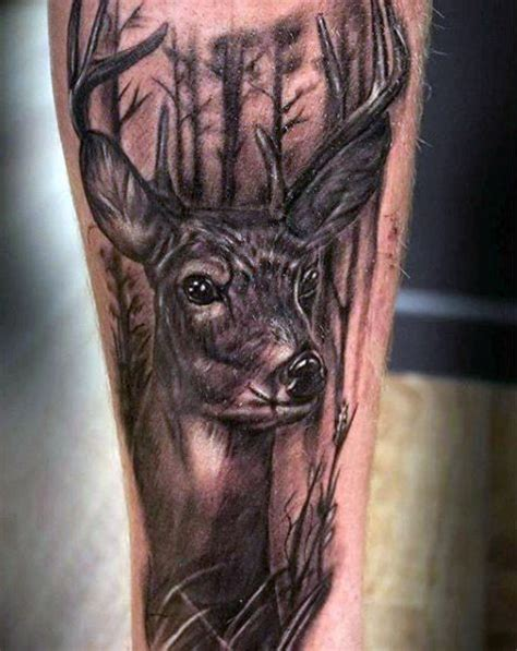 tattoo prices red deer mens deer in the woods tattoo design on forearm tatoos