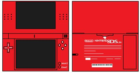 Papercraft Ds - ds lite nintendofan12 s papercraft things photo