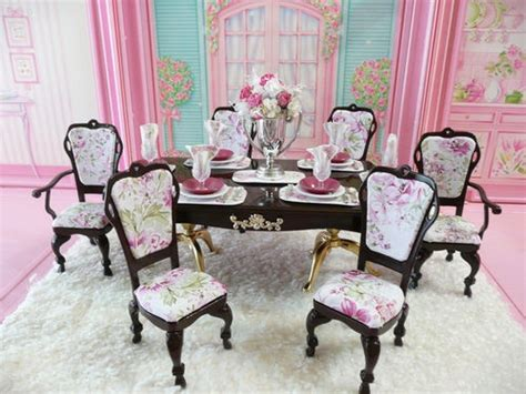 barbie dining room ooak barbie dining room diorama doll play in the