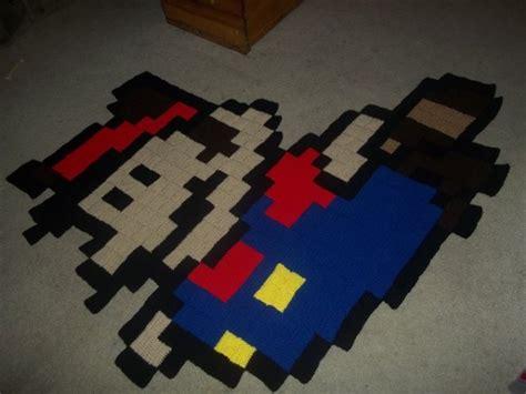 gamer rug 8 bit rugs offer soft pixels beneath your technabob