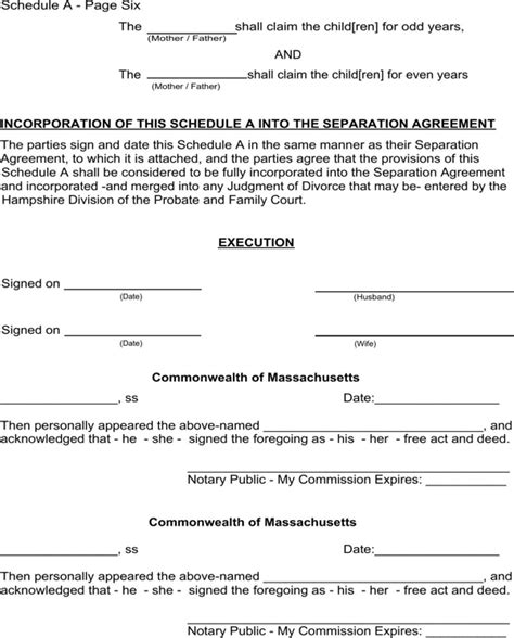 Download Massachusetts Separation Agreement Template For Free Page 16 Formtemplate Divorce Agreement Template Massachusetts