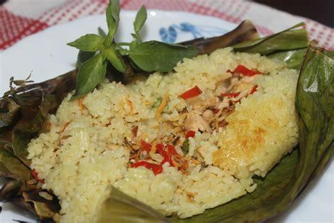 cara membuat nasi kuning bakar resep nasi bakar teri koleksi menu masakan sedap