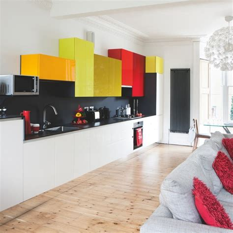 colourful kitchens striking modern kitchen housetohome co uk