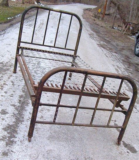 antique metal bed antique iron metal bed with original side rails and