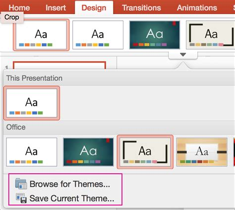 Create Powerpoint Template Online Customize And Save A Theme In Powerpoint For Mac Powerpoint Powerpoint For Mac Create Template