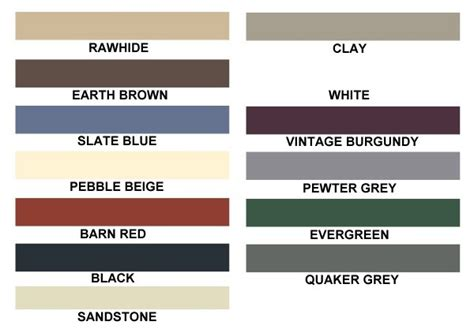 carolina colors eagle carports direct color chart