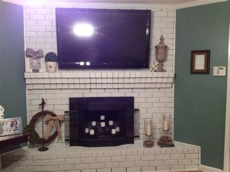 Painted Brick Fireplace Ideas by Painted Brick Fireplace Home Ideas