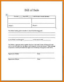 Bill Of Sale Template Word by Bill Of Sale Receipt Template Sales Receipt Template