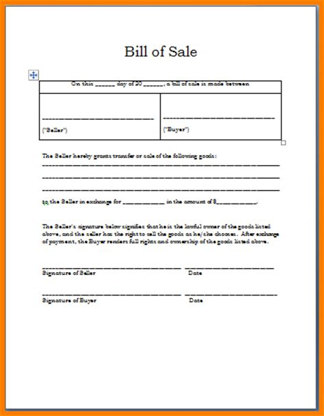 bill of sale word template bill or invoice in a restaurant studio design
