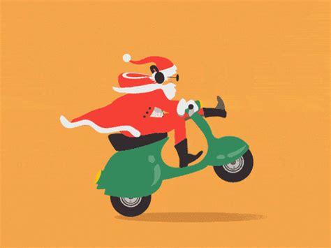 scooter santa animated gif image