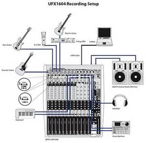 behringer ufx1604 set up diagram home studio